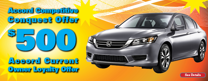 $500 Honda Accord Offer
