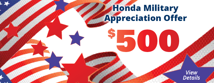 Honda Military Appreciation Bonus