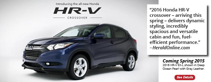 TThe 2016 Honda HR-V