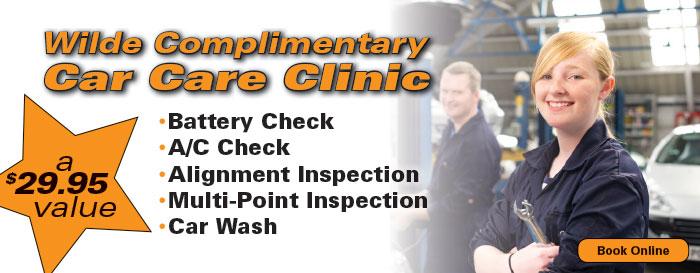 Complimentary Car Care Clinic
