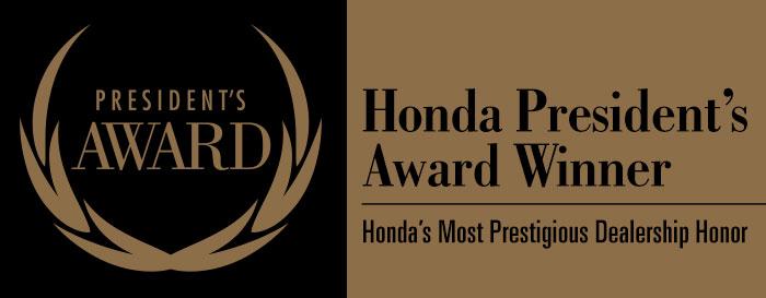 Madison Honda President Award Winner