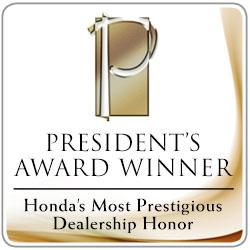 Honda President Award Winner