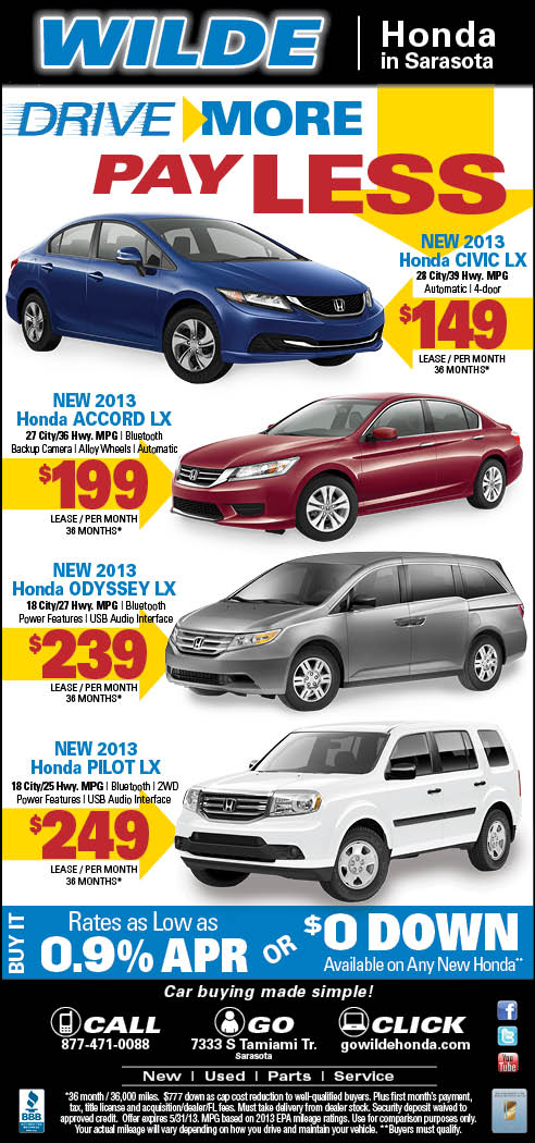 Sarasota Honda New Car Specials