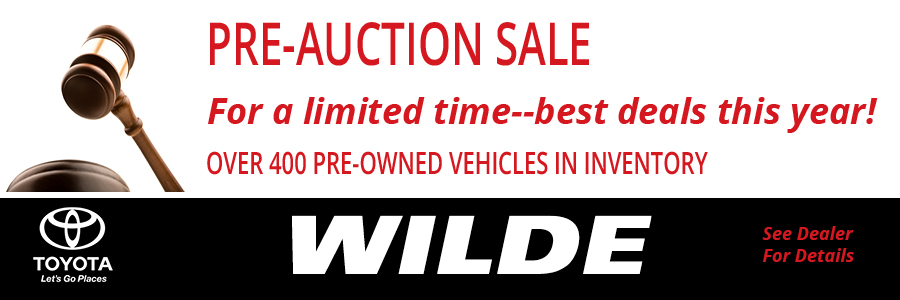 Wilde Toyota Pre-Auction Sale