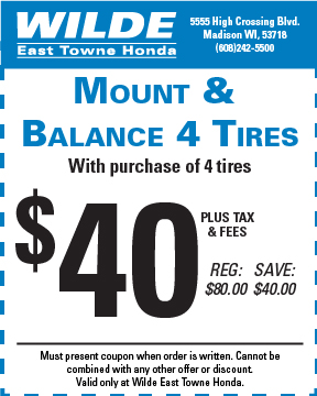 Mount and Balance 4 Tires