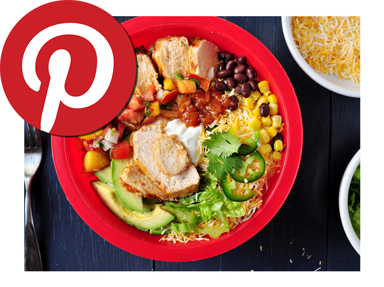 Pin It Recipe - Burrito Bowls with Chicken