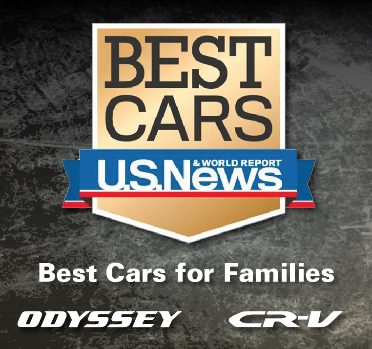 2018 Honda Odyssey and CR-V Named 'Best Cars for Families' by U.S. News & World Report