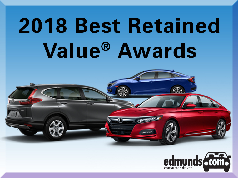 Honda Accord, Civic, and CR-V Earn 2018 Edmunds Best Retained Value Awards
