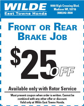 Front or Rear Brake Job