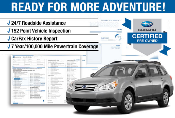 Subaru Certified Preowned Benefits